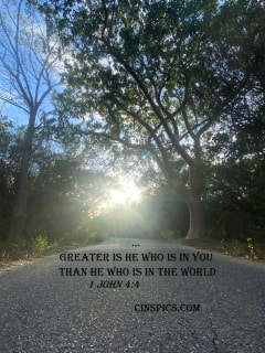 greater is He who is in you than he who is in the world. 1 John 4:4 by cinspics