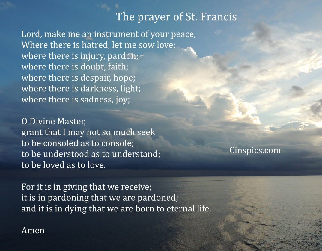 Prayer of St Francis of Assisi by cinspics.com